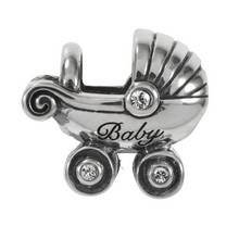 Moon & Back Sterling Silver Baby Carriage Charm