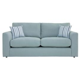 Argos Home Cora 3 Seater Fabric Sofa - Duck Egg