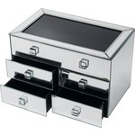 more details on Bevelled Five Drawer Mirrored Jewellery Box.