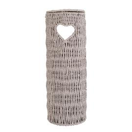 Argos Home Woven Heart Toilet Roll Holder