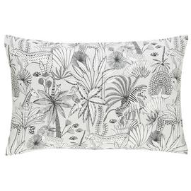 Habitat Jungle Cotton Standard Pillowcase Pair - White