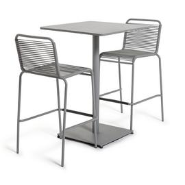 Habitat Ipanema 2 Seater Bar Bistro - Grey