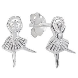 Revere Sterling Silver Ballerina Stud Earrings