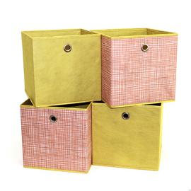 Habitat Set of 4 Square Plus Boxes - Orange