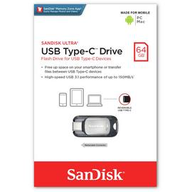 SanDisk Ultra Flash Drive USB 3.0 Type-C - 64GB