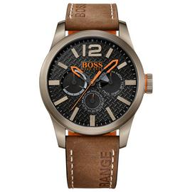 Boss Orange Men's Brown Leather Strap Watch