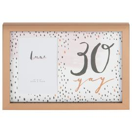 Hotchpotch Luxe 30th Birthday Photo Frame - Rose Gold