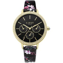 Lipsy Black Strap Faux Leather Watch