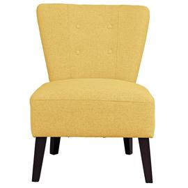 Argos Home Delilah Fabric Cocktail Chair - Yellow