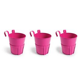 Argos Home Bright Pink Balcony Planters - Set of 3