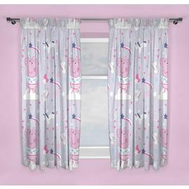 Peppa Pig Unlined Pencil Pleat Curtains