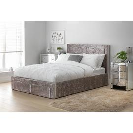 Argos Home Kourtney End Open Ottoman Kingsize Bed - Silver