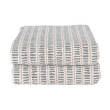 Argos Home Striped 2 Piece Towel Bale - Grey & Pink