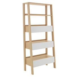 Argos Home Essel 5 Shelf Leaning Bookcase - Two Tone
