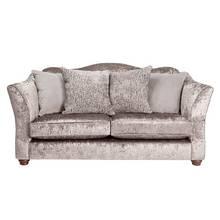 Argos Home Fantasia 3 Seater Velvet Sofa - Truffle