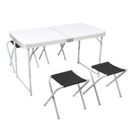 Pro Action 120cm Folding Table With 4 Stools