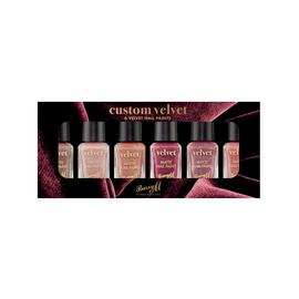 Barry M Cosmetics Velvet Nail Paint Set x 6