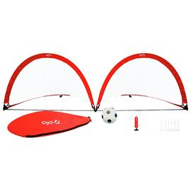 Opti Portable Pop Up Football Goal & Accessories - Set of 2