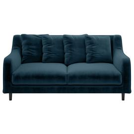 Habitat Swift 3 Seater Velvet Sofa - Blue