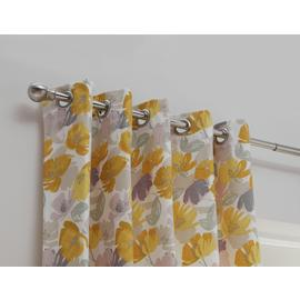 Habitat Floral Printed Fully Lined Eyelet Curtains