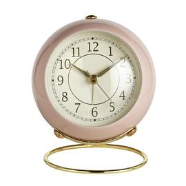 Wm. Widdop Retro Alarm Clock - Pink & Gold