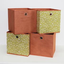 Habitat Set of 4 Squares Boxes - Mustard Dash