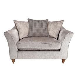 Argos Home Buxton Fabric Cuddle Chair - Truffle