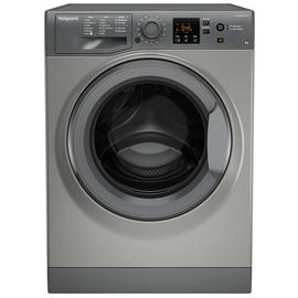 Hotpoint NSWM863CGG 8KG 1600 Spin Washing Machine - Graphite
