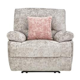 Argos Home Carmilla Fabric Manual Recliner Chair - Silver