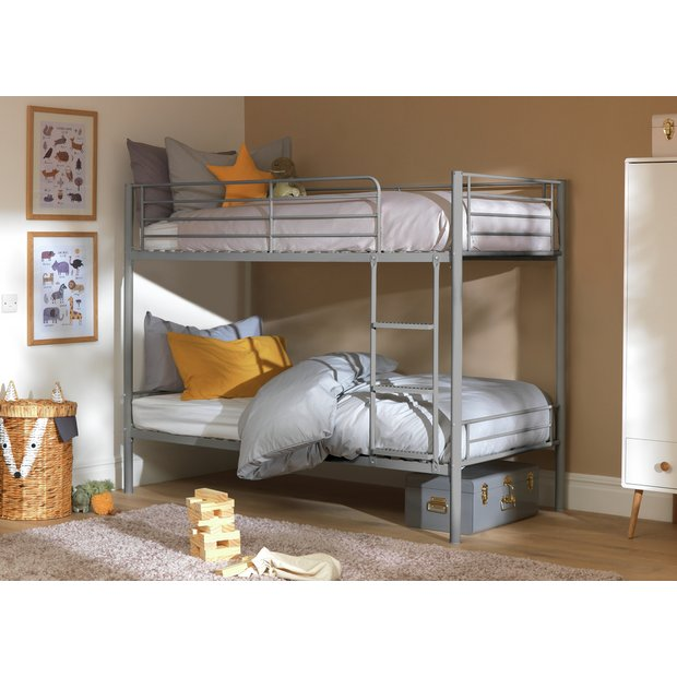 Buy Argos Home Mason Metal Bunk Bed Frame Silver Kids Beds Argos