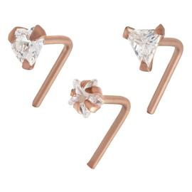 State of Mine Cubic Zirconia Nose Studs - Set of 3