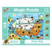 Galt Toys Pirate Ship 50 Piece Magic Puzzle