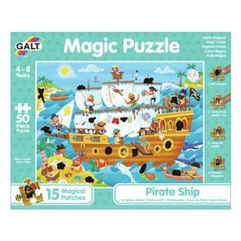 Galt Toys Pirate Ship 50 Piece Magic Puzzle