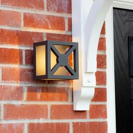 Smartwares Black Outdoor Wall Light