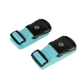 Featherstone Set of 2 Luggage Strap - Black and Blue