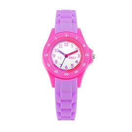 Little Tix Pink and Purple Silicone Time Teacher Watch