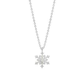 Amelia Grace Snowflake Silver Coloured Necklace
