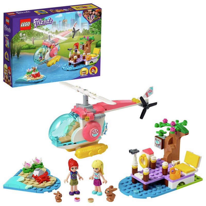 LEGO Friends Vet Clinic Rescue Helicopter Toy 41692 from Argos