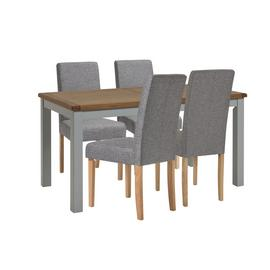 Habitat Kent Wood Veneer Dining Table & 4 chairs