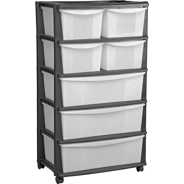 Buy HOME 7 Drawer Plastic Wide Tower Storage Unit