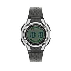 Constant Men's Black Digital Multi Function Strap Watch