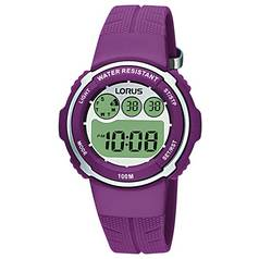 Lorus Ladies' Digital Purple Strap Watch
