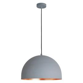 Habitat East Pendant Ceiling Light - Copper and Grey