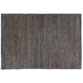 Habitat Hurley Leather and Jute Rug - 170 x 240cm - Grey