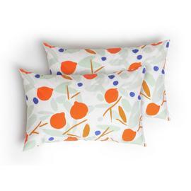 Habitat Pomegranates Standard Pillowcase Pair - Floral