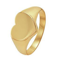Revere 9ct Yellow Gold Heart Shaped Signet Ring