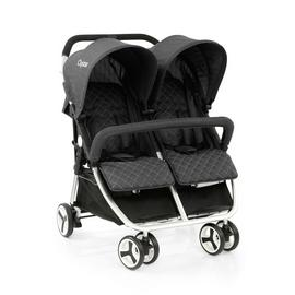 Oyster Double Pushchair - Tungsten Grey