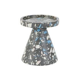 Habitat Jose Black and Blue Terazzo Pillar Candle Holder