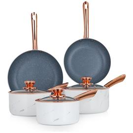 Tower Marble Rose Gold 5 Piece Pan Set