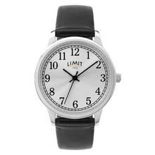 Limit Ladies Black Faux Leather Strap Watch
